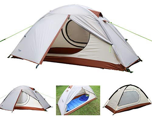 Luxe Tempo Single 1 Person Tent 4 Season 2 Doors with...