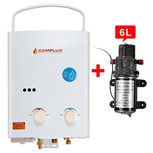 Camplux 5L 1.32GPM Ventfree Outdoor Portable Propane Gas...