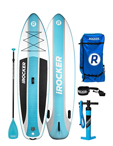 iROCKER Cruiser Inflatable Stand Up Paddle Board 10'6' Long...