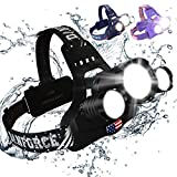 DanForce Headlamp, Ultra Bright Rechargeable LED...