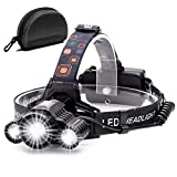 Headlamp,Cobiz Brightest High 6000 Lumen LED Work...