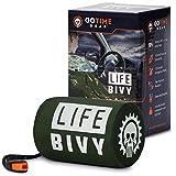 Go Time Gear Life Bivy Emergency Sleeping Bag Thermal Bivvy...