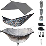 The Ultimate 3 in 1 Camo Camping Hammock RainFly Bundle with...