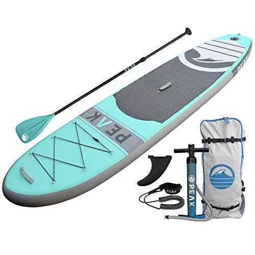 Peak 10'6' All Around Inflatable Stand Up Paddle Board | 6'...