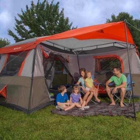 Ozark Trail 16x16-Feet 12-Person 3 Room Instant Cabin Tent...