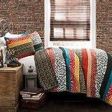 Lush Decor Boho Stripe Quilt Reversible 3 Piece Bohemian...