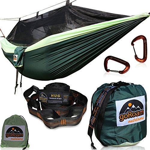 GoRoam Outdoors Camping Hammock with Mosquito Net | Pro...