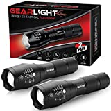 GearLight LED Tactical Flashlight S1000 [2 PACK] - High...