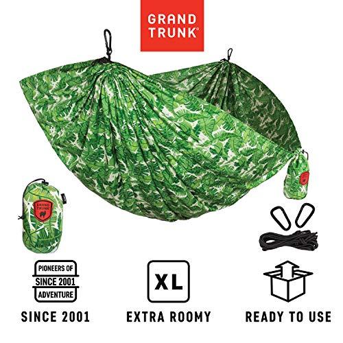 Grand Trunk Print Hammock - Camping Double, Tree Hanging Kit...