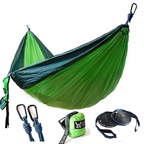 WINNER OUTFITTERS Double Camping Hammock - Lightweight Nylon...