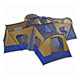 fortunershop Family Cabin Tent 14 Person Base Camp 4 Rooms...
