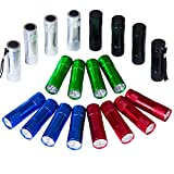 FASTPRO 20-pack Aluminum 6-LED Flashlights Set with Lanyard...