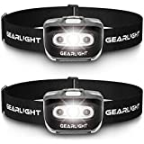 GearLight LED Headlamp Flashlight S500 [2 PACK] - Running,...