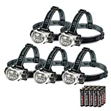EverBrite 5-Pack LED Headlamp Flashlight for Running,...