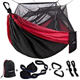 Single & Double Camping Hammock with Mosquito/Bug Net, 10ft...