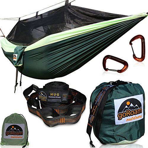 GoRoam Outdoors Camping Hammock with Mosquito Net | Pro...