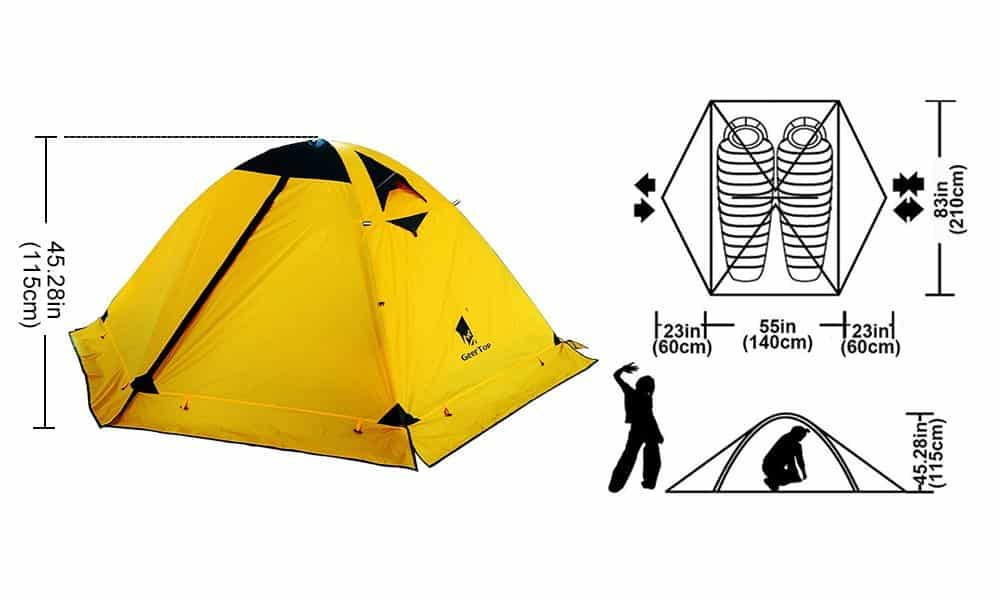 GEERTOP 2-person 4-season Backpacking Tent - View 2
