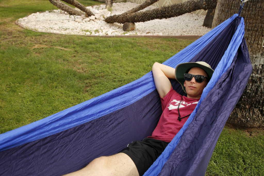man laying in hammock, hammock for camping, best ultralight hammock