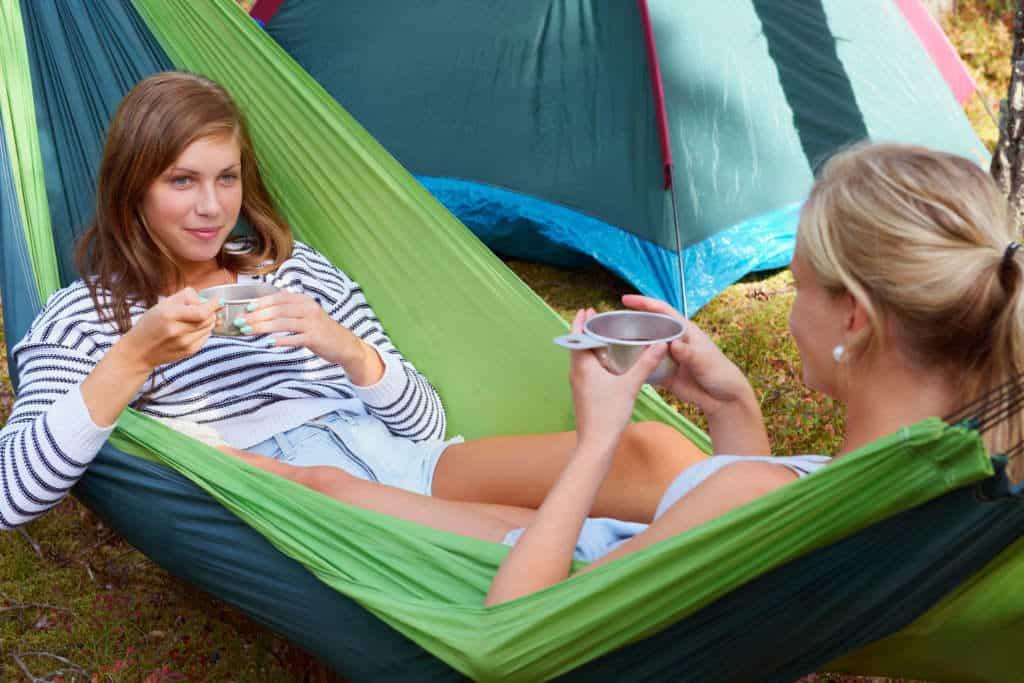 girls in 2 person hammock ten
