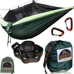 GoRoam Outdoors Camping Hammock with Mosquito Net Review - Best One Person Camping Hammocks - Lightwight and Ultralight Camping and Hiking