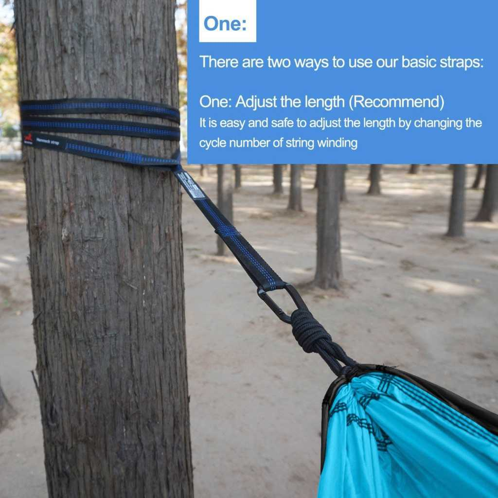 Honest Outfitters Single & Double Camping Hammock With Hammock Tree Straps._SL1500_