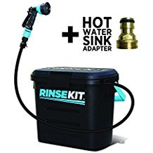 RinseKit Pressurized Portable Shower Review - Best Showers - Lightwight and Ultralight Camping and Hiking