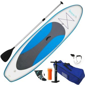 SereneLife Inflatable Stand Up Paddle Board Universal SUP Review - Best Stand Up Paddle Boards - Lightwight and Ultralight Camping and Hiking