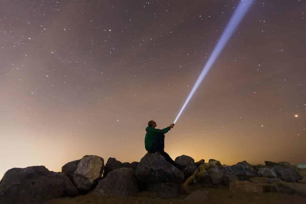 1tac TC1200 flashlight, camping flashlight, tactical LED flashlight